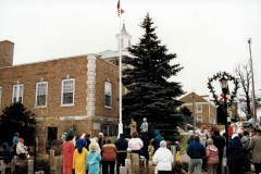 Christmas tree lighting ceremony - Downtown, West Bend
