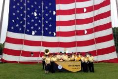 Flag Day parade - Waubeka