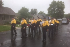 Flag Day parade - Waubeka